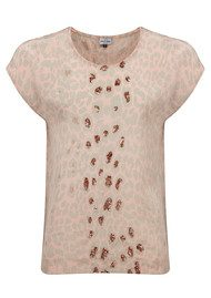 Mercy Delta Blair Safari Sequin Top - Dusk