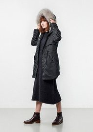 PARKA LONDON Lara Essential Parka - Houndstooth