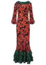 RIXO London Suki Dress - Daisy Orange Green