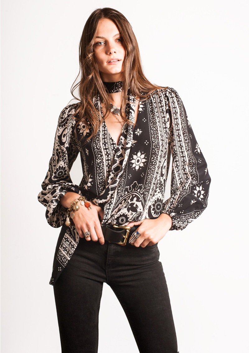 Moss Blouse - Paisley Scarf Print main image