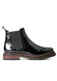 Hudson London Wistow Patent Leather Boot - Black