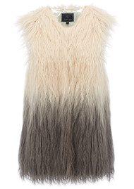 Unreal Fur Pastorale Ombre Vest - Champagne & Charcoal