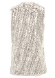 Unreal Fur Vest with Centre Stripe - Grey & Champagne