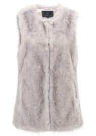 Unreal Fur Silver Lining Vest - Grey