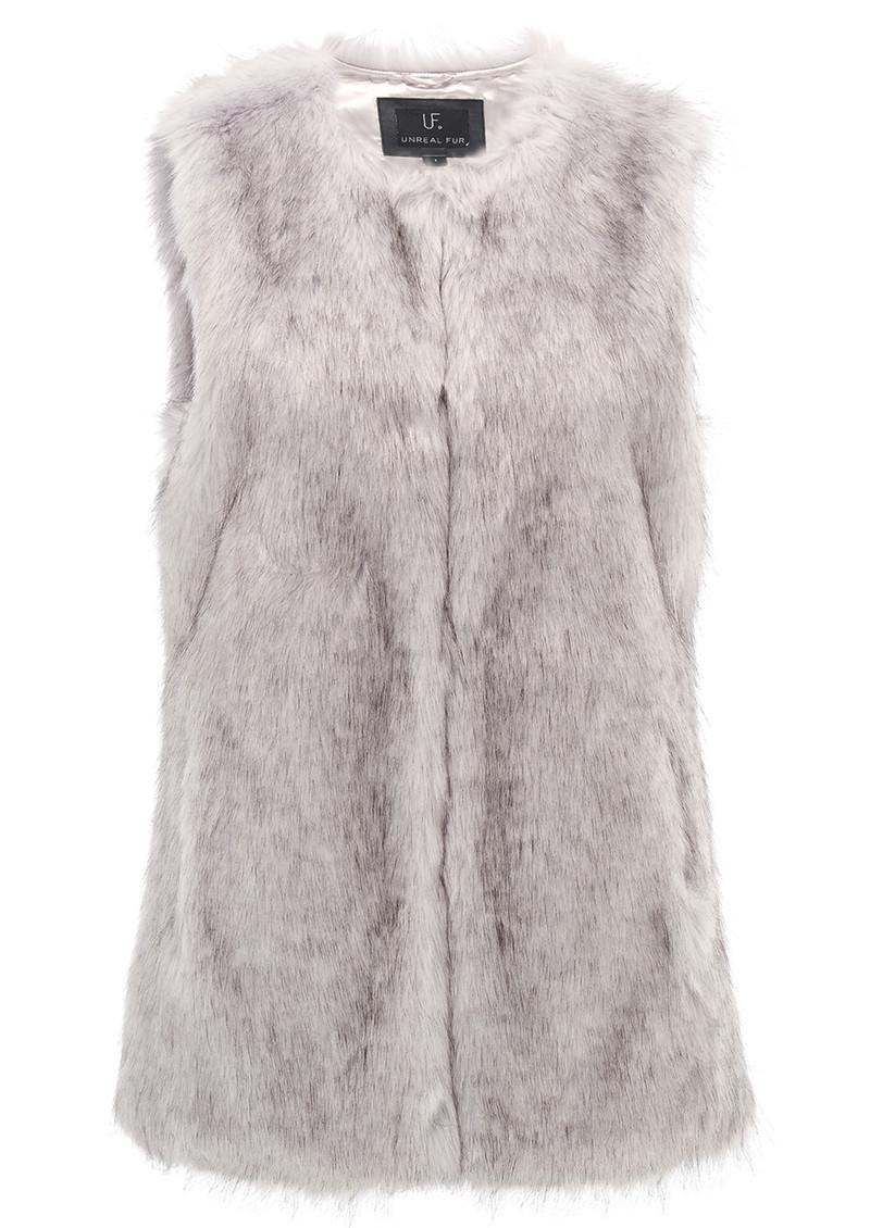 Unreal Fur Silver Lining Vest - Grey main image