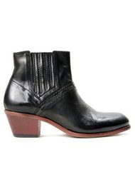 Hudson London Paige Leather Boots - Black