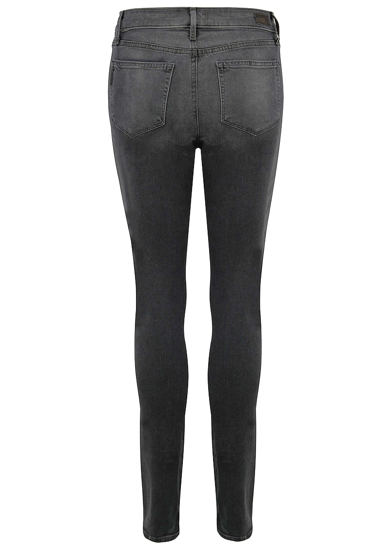 Paige Denim Hoxton High Rise Ultra Skinny Jeans - Smoke Grey main image