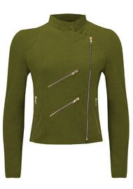 FAB BY DANIE Paris Suede Jacket - Khaki