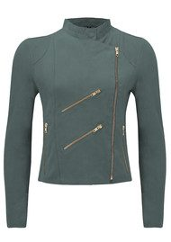 FAB BY DANIE Paris Suede Jacket - Petrol Grey