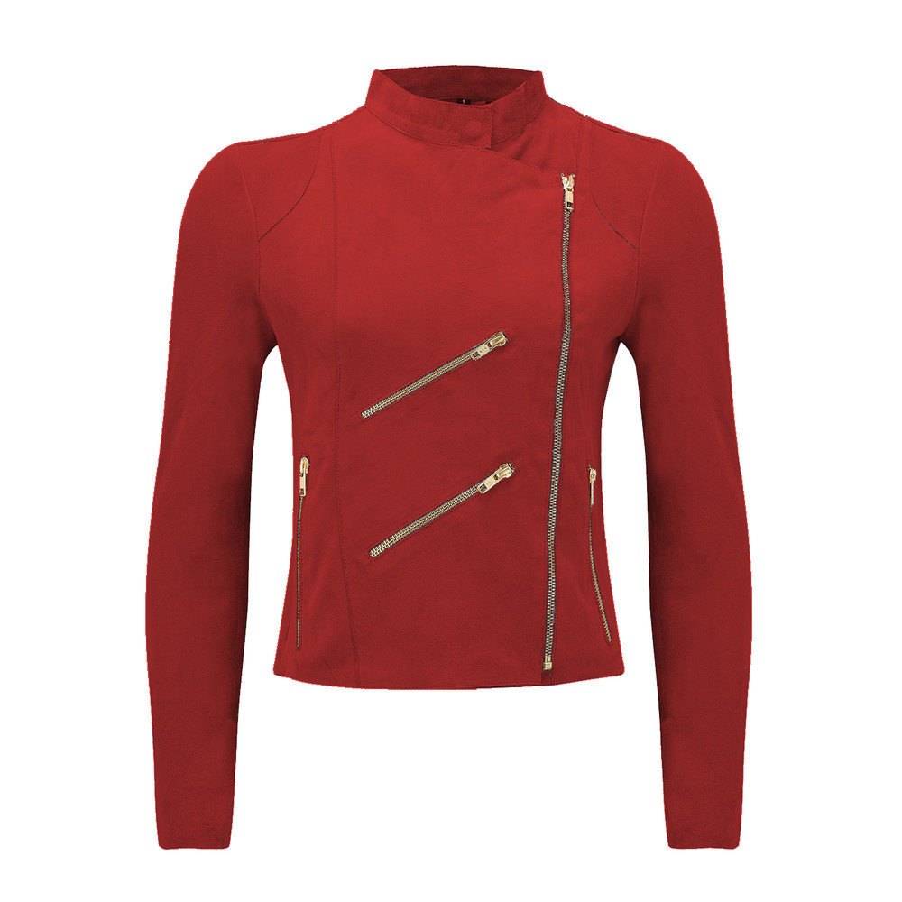 Paris Suede Jacket - Red