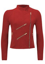 FAB BY DANIE Paris Suede Jacket - Red