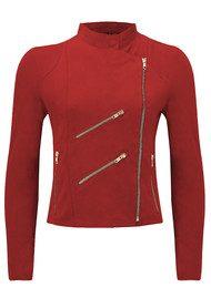 FAB BY DANIE Paris Suede Jacket - Red