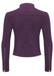 FAB BY DANIE Paris Suede Jacket - Purple