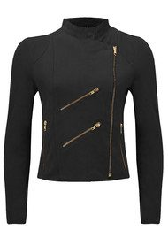 FAB BY DANIE Paris Suede Jacket - Black