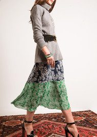 RIXO London Leandra Skirt - Mixed Daisy Dream Print