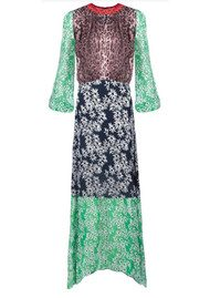 RIXO London Penelope Dress - Mixed Daisy Dream & Leopard Print