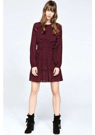 Ba&sh Relax Dress - Bordeaux Print