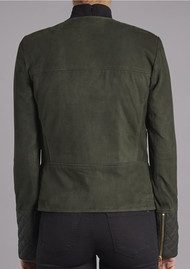 Muubaa Gloster Biker Jacket - Forest Green