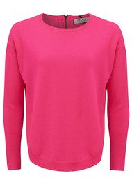 COCOA CASHMERE Curved Hem Crew Jumper - Dayglow