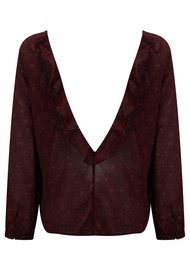 Ba&sh Rita Blouse - Bordeaux Print