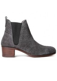 Hudson London Compound Suede Boot - Charcoal