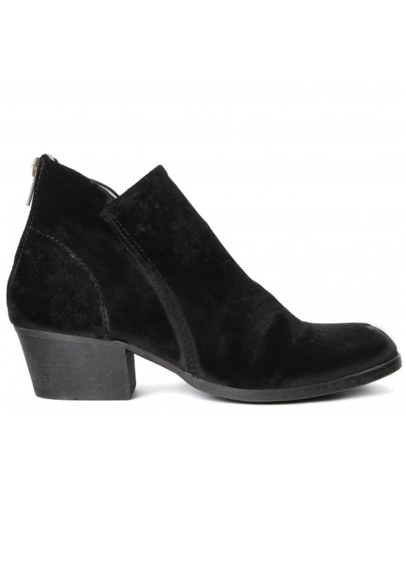 Hudson London Apisi Velvet Boots - Black main image