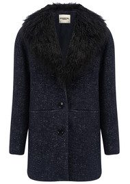 Essentiel Martiniquefur Coat - Total Eclipse