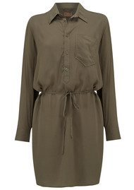 REIKO Taylor Colour Shirt Dress - Vintage Khaki