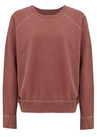REIKO Pearl Cotton Sweatshirt - Blush
