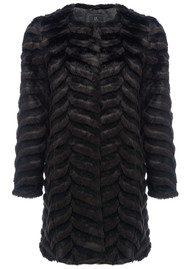Unreal Fur Dream Catcher Coat - Black