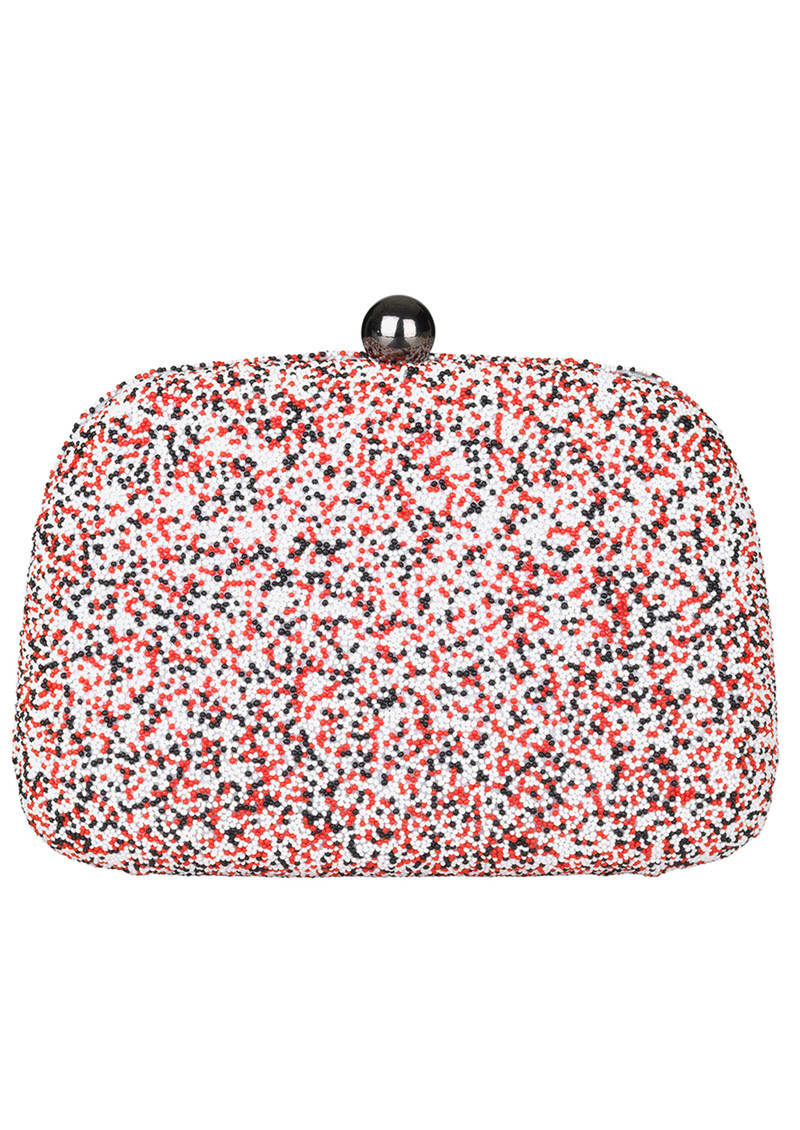 Becksondergaard Poppy Embellished Box Clutch - Multi Coloured main image