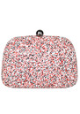 Poppy Embellished Box Clutch - Multi Coloured additional image