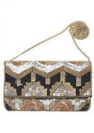 Becksondergaard Paradis Embellished Clutch Bag - Silver