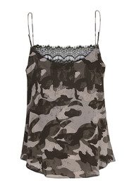 CUSTOMMADE Elvira Camo Lace Camisole - Tarmac Green