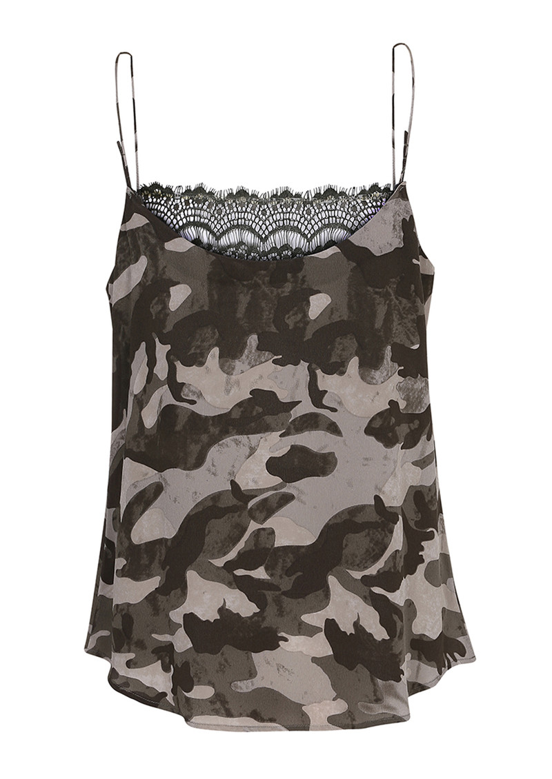 CUSTOMMADE Elvira Camo Lace Camisole - Tarmac Green main image