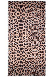 Lily and Lionel Exclusive Ella Leopard Scarf - Nude