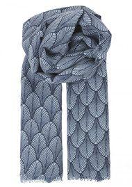 Becksondergaard Louvre Silk Blend Scarf - Classic Navy