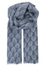 Louvre Silk Blend Scarf - Classic Navy additional image
