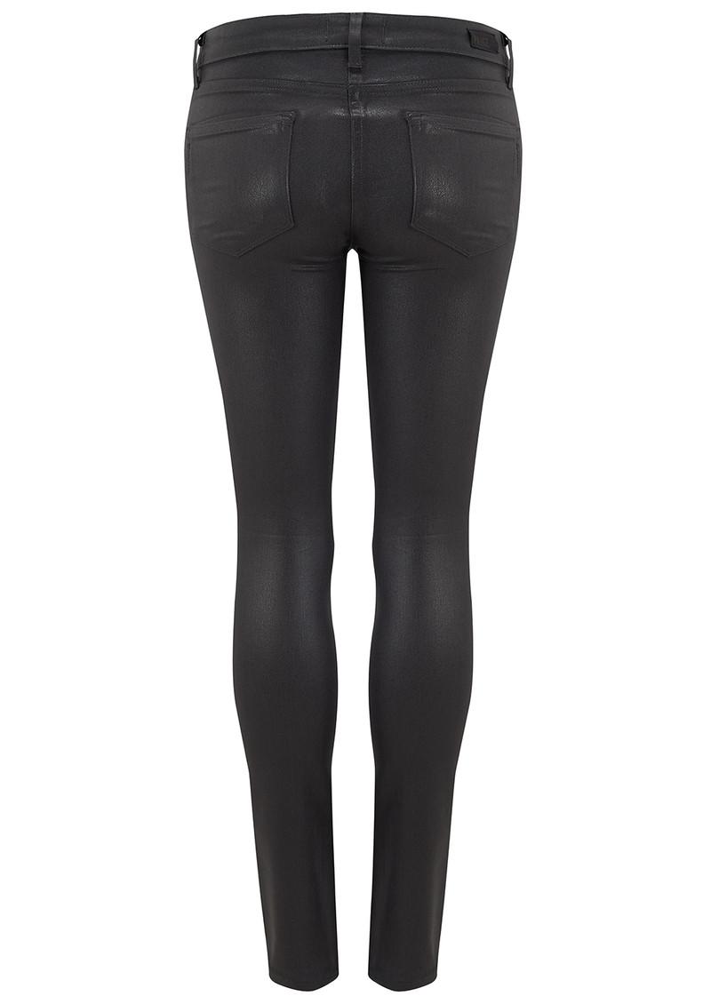 Paige Denim Verdugo Ankle Luxe Coating Jeans - Black Fog main image