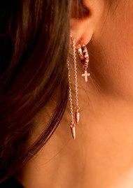 ChloBo Gypsy Dreamer Serenity Hoop Earrings - Rose Gold