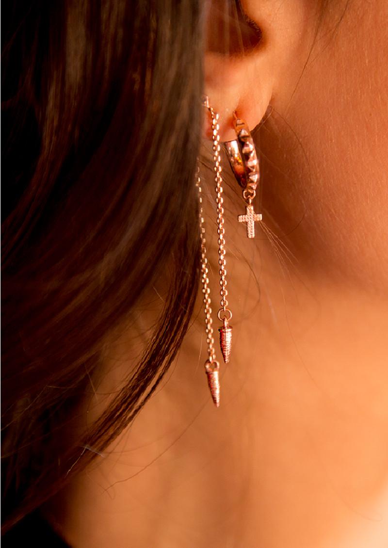 ChloBo Gypsy Dreamer Serenity Hoop Earrings - Rose Gold main image