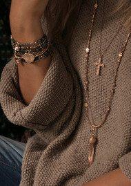 ChloBo Gypsy Dreamer Kindred Spirit Necklace - Rose Gold