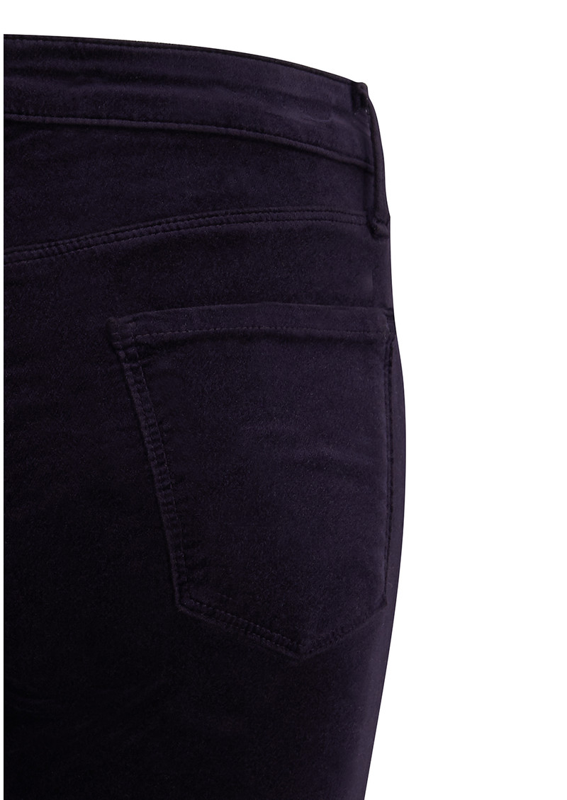 J Brand Mid Rise Super Skinny Velveteen Jeans - Twilight Purple main image