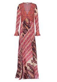 Aoife Silk Dress - Mixed Paisley