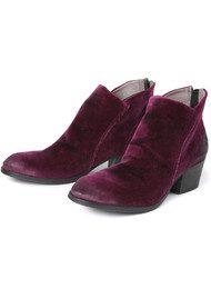 Hudson London Apisi Velvet Ankle Boot - Bordo