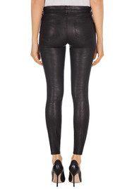J Brand L8001 Mid Rise Stretch Leather Leggings - Black