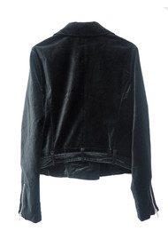 Paige Denim Shanna Velvet Biker Jacket - Black