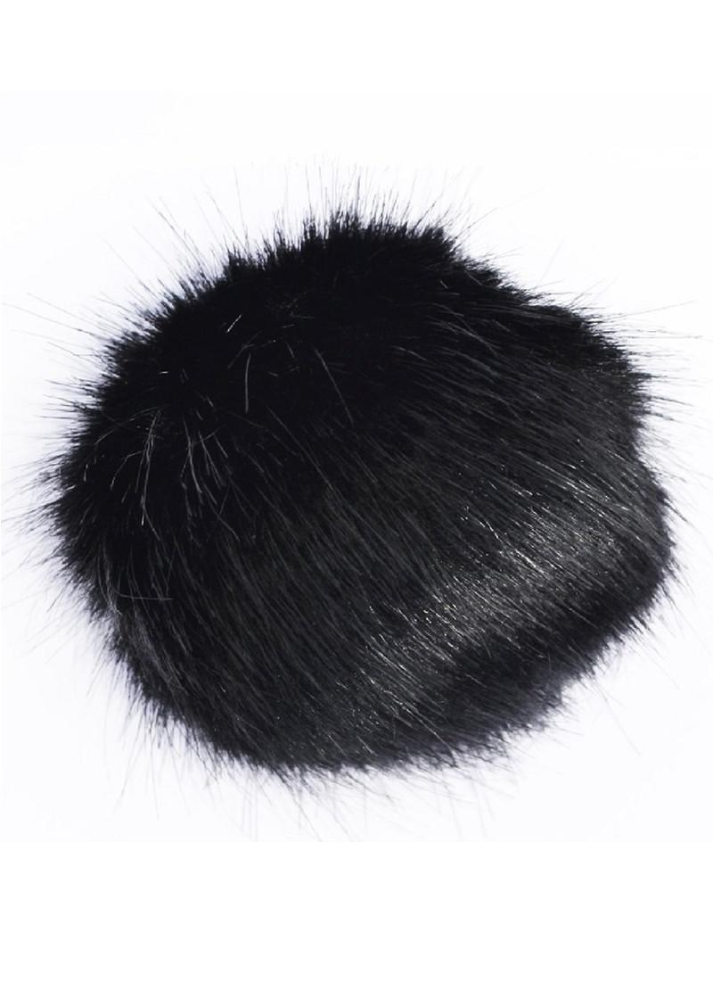 BOBBL Faux Fur Small Bobbl - Black main image