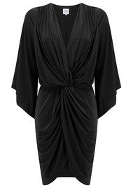 MISA Los Angeles Teget Bell Long Sleeve Twist Dress - Black