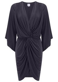 MISA Los Angeles Teget Bell Long Sleeve Twist Dress - Slate